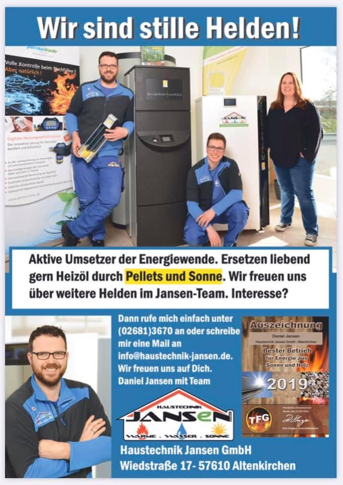 Wir sind DIE Macher und stille Helden der Energiewende im Westerwald. Mit Leide…